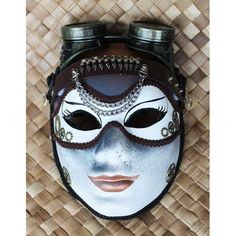 STEAMPUNK MASK WITH DETACHABLE STEAMPUNK GOGGLES AND STUDDED WRIST CUFF: MISS CORTESIA WRITE-CALDWELL: ENGINEER