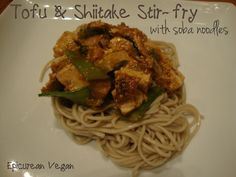 Tofu & Shiitake Stir-fry with Soba Noodles