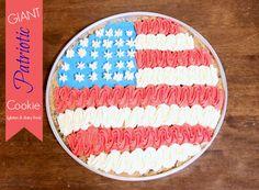 Giant Patriotic Chocolate Chip Cookie