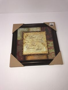 Picture Frame Wall Hanging Kirklands Don't Be Afraid Of Tomorrow God Is Already  | Crafts, Stamping & Embossing, Stamps | eBay!