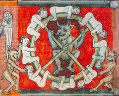 Ferris wheel, Apocalypse, France 1220-1270 (Toulouse, Bibliothèque municipale, Ms 815, fol. 59v)