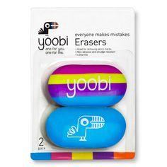 Yoobi 2pk Erasers - Multicolor