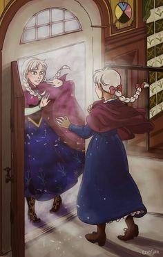 """Sophie vs. Anna #Frozen x #Ghibli ;-)"""