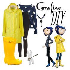 """DIY Coraline Costume"" by ashleyefrase ❤ liked on Polyvore featuring Banjo & Matilda, Topshop, halloweencostume and DIYHalloween"
