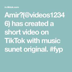 Amir🖤(@videos12346) has created a short video on TikTok with music sunet original. #fyp The Originals, Create, Music, Musica, Musik, Muziek, Music Activities, Songs