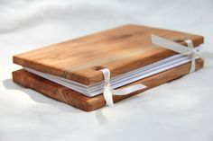Small Woodcover Blank Journal In Cherry- Made From Reclaimed Wood And Recycled…