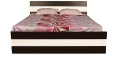 Zoom Queen Bed with Hydraulic Storage in Wenge Colour by Asis Furniture at discounted price of 22808 than 32199rs -Pepperfry