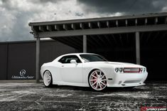 matte and gloss black challenger | Matte White Dodge Challenger Widebody by Ultimate Auto