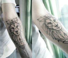 Bildergebnis für löwe tattoo unterarm