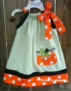 Gorgeous halloween  Pumpkin Pillowcase Dress by