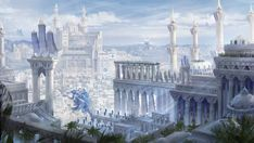 Qrath Empire cityscape fantasy concept art by DamianKrzywonos.d… on Qrath Empire Stadtbild Fantasy-Konzeptkunst von DamianKrzywonos. Fantasy City, Fantasy Castle, Fantasy Places, Fantasy Kunst, High Fantasy, Fantasy World, Fantasy Rpg, Fantasy Art Landscapes, Fantasy Landscape