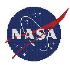 cross stitch pattern Nasa logo by Happypuzzle on Etsy