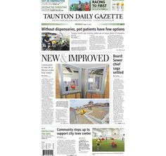 The front page of the Taunton Daily Gazette for Monday, June 15, 2015.