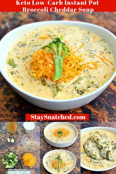 Easy Keto Low-Carb Instant Pot Panera Broccoli Cheddar Cheese Soup is the best, quick pressure cooker recipe that includes stovetop directions, too. Keto Broccoli Cheese Soup, Broccoli Soup Recipes, Cheddar Cheese Soup, Cream Of Broccoli Soup, Broccoli Cheddar, Keto Soup, Frozen Broccoli, Zoodle Recipes, Broccoli Casserole