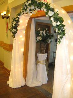 wedding flower arrangements for arches | Flower Arch Wedding