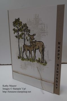Birthday Card Featuring Stampin' Up!'s In the Meadow, Vertical Greetings, and You've Got This Stamp Sets.  For details, go to my Thursday, September 22, 2016 blog at http://www.stampinup.net/blog/2130686/entry/in_the_meadow_birthday_card