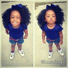 Cute natural hair kid