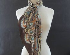 Vintage Oscar de la Renta Silk Multi-colour Scarf Multi Coloured Scarves, Scarfs, Silk, Trending Outfits, Unique Jewelry, Etsy, Vintage, Fashion, Moda