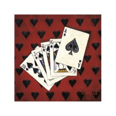 Royal Flush Giclee Print by Will Rafuse at Art.com