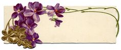 violet place card #clipart