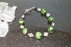 Black and Green Elegant bead bracelet - Polymer Clay Jewelry - Item #A1039 - Clay Jewelry - Art Jewelry - Gift Idea - Jewelry Gift - pinned by pin4etsy.com