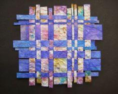 Papiervlechten met ecoline papier