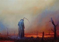 """""""The Paintings of Polish contemporary artist Mariusz Lewandowski"""" High Fantasy, Dark Fantasy Art, Dark Art, Aqua Regia, Dark Songs, Arte Obscura, Danse Macabre, Lewandowski, Arte Horror"""