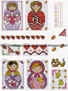 Santa Clara Artesanato: Gráficos de matrioscas