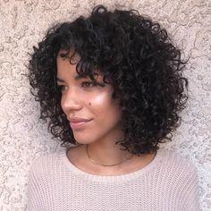 Medium Natural Layered Curly Hairstyle