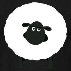 """Shirely the sheep"" Tee, Black, Men"