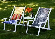 DIY beach chairs