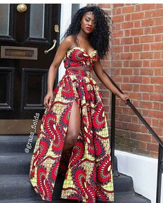 Africa fashion clothing looks Hacks 6026327473 African Prom Dresses, African Fashion Dresses, African Attire, African Wear, African Women, African Dress, African Outfits, Ankara Fashion, African Style