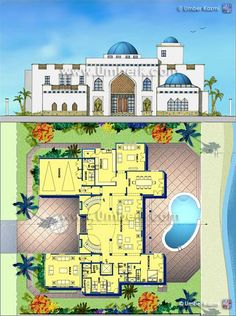 Superb Luxury Villa, Home Plans, Floor Plans, Villas, Homes, House Design, Style,  Moroccan Interiors, Searching