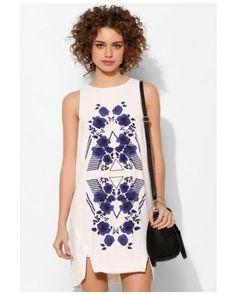 Stylestalker Chevron Rose Shift Dress