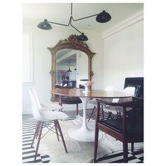 Christine Dovey Style- Dining Room Project Braecrest - Lambert et Fils Waldorf fixture- Love by Design antique mirror