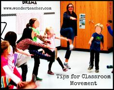 Tips for Classroom Movement- Information about establishing movement-based learning activities successfully in your classroom. From Wonder Teacher.