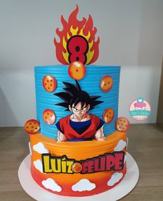Goku Birthday, 27th Birthday, Dragonball Z Cake, Anime Cake, Birtday Cake, Movie Cakes, Dad Cake, Ball Birthday Parties, Themed Cakes
