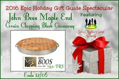 John Boos Maple End Grain Chopping Block Giveaway! Ends 12/06 ~ Tales From A Southern Mom
