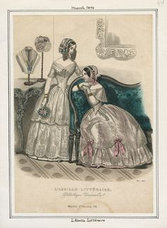 Casey Fashion Plates Detail | Los Angeles Public Library L'Abeille Litteraire Date:  Sunday, March 1, 1846