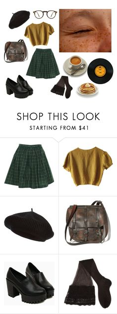 """""""First day of school"""" by horchatanchurros ❤ liked on Polyvore featuring Tommy Hilfiger, Schumacher, Harrods, CERVIN and Oliver Peoples"""