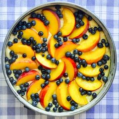 Blueberry Peach Sour Cream Cake - a marriage of great flavors! A summer into fall recipe taking advantage of seasonal fruits when they are both available.