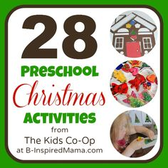 Does your child's school celebrate Christmas?   Preschool Christmas Activities from The Kids Co-Op
