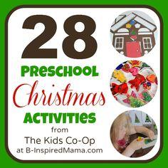 preschool snack ideas   28 Preschool Christmas Activities from the Kids Co-Op - B-InspiredMama ...