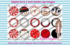 1' Bottle caps (4x6) Digital 3 part ornament C2273 PLEASE VISIT http://craftinheavenboutique.com/AND USE COUPON CODE thankyou25 FOR 25% OFF YOUR FIRST ORDER OVER $10! #bottlecap #BCI #shrinkydinkimages #bowcenters #hairbows #bowmaking #ironon #printables #printyourself #digitaltransfer #doityourself #transfer #ribbongraphics #ribbon #shirtprint #tshirt #digitalart #diy #digital #graphicdesign please purchase via link http://craftinheavenboutique.com