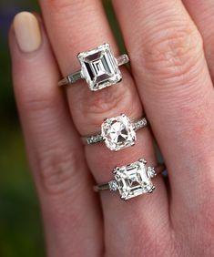 Vintage Rings ❤️nnSkus 14579 & 60185 (bottom ring 60187 is sold) Antique Diamond Rings, Antique Engagement Rings, Royal Jewels, Crown Jewels, Antique Jewelry, Vintage Jewelry, Celebrity Photos, Celebrity News, Celebrity Style