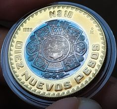 Mexican Peso, Aztec Art, World Coins, Coin Collecting, Bronze, Personalized Items, Silver, Gold, World