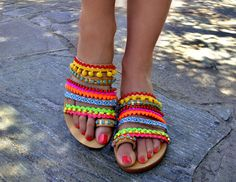 Boho colorful sandals www.etsy.com/listing/515817576