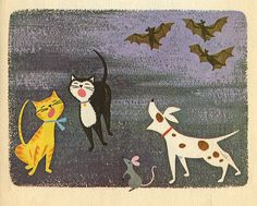 Halloween Children's Book Illustration: Ruth Ruhman, illustrator, 1965