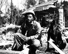 Vintage Vietnam War era photograph of a United States Marine Corps combat soldier with Doberman. Military dog photo. Vintage guard dog. Vintage attack dog photograph. Vintage Doberman Pinscher. Vintage war dog photo. Peter Gumaer Ogden Collection