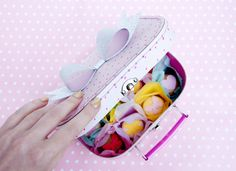 DIY Macaron Suitcase Gift + printable via @team